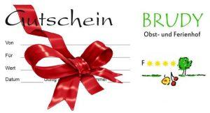 Gutschein Obst- und Ferienhof Brudy